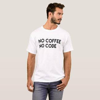 T-shirt aucun café aucun code - café et codage