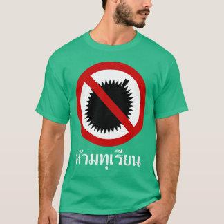 T-shirt AUCUN ⚠ de signe de manuscrit de langue