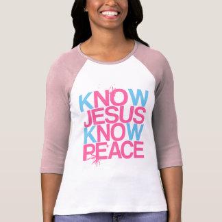 T-shirt Aucun Jésus, aucune paix. Connaissez Jésus, sachez