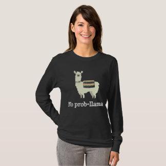 T-shirt Aucun lama de Prob - amant drôle d'alpaga de lama