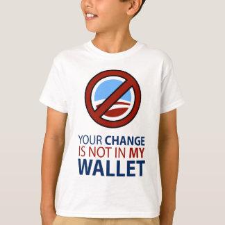 T-shirt Aucun Obama : Votre changement n'est pas dans mon