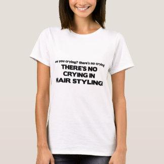 T-shirt Aucun pleurer dans dénommer de cheveux