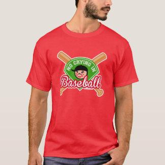 T-shirt Aucun pleurer dans le base-ball - l'enfant mignon