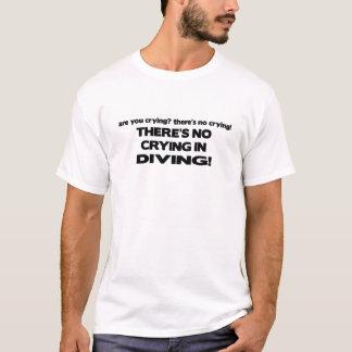 T-shirt Aucun pleurer - plongée
