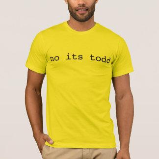 T-shirt aucun son todd
