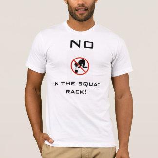 T-shirt Aucun vomir dans le support accroupi