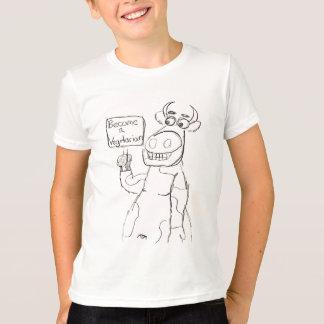 T-shirt AUCUNE BULL !  Roche de végétariens !