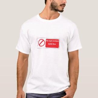 T-shirt aucune chemise de signe de contact visuel