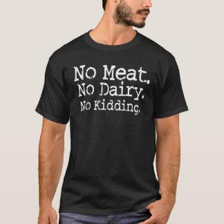 T-shirt Aucune chemise végétalienne de message de viande