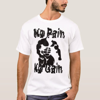T-shirt Aucune douleur aucune chemise de muscle de gain