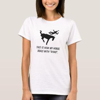 T-shirt Aucune zone de diva