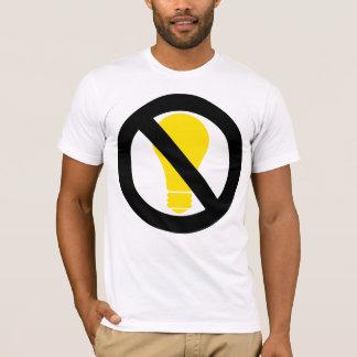 T-shirt aucunes ampoules incandescentes