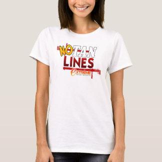 T-shirt Aucunes lignes de Tan
