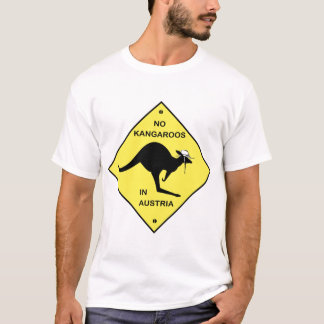 T-shirt Aucuns kangourous en Autriche !