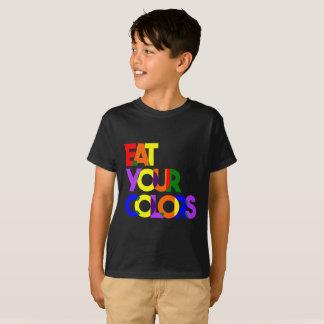 """T-shirt Audacieux """"mangez vos enfants de couleurs"""" -"""