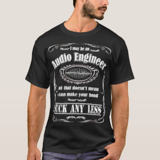 T-shirt audio de studio d'enregistrement de bande