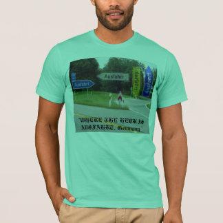 """T-shirt ausfahrt, """"OÙ L'ESTACADE À CLAIRE-VOIE EST"""