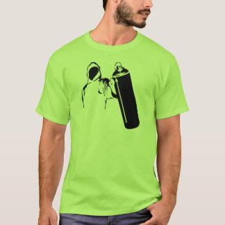 T-shirt Auteur de graffiti avec le pochoir de boîte de jet