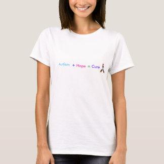 T-shirt Autisme +Espoir = traitement