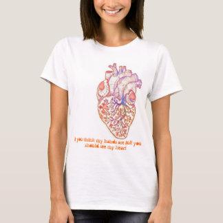 T-shirt Autisme - pleins mains et coeur