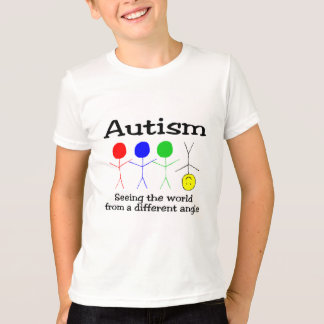T-shirt Autisme voyant le monde d'un angle différent