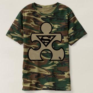 T-shirt autiste Camo de morceau de puzzle de