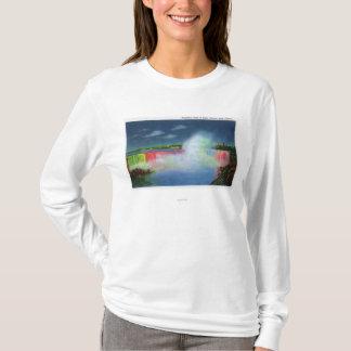 T-shirt Automnes de fer à cheval illuminés la nuit # 2