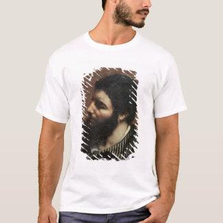 T-shirt Autoportrait avec le collier rayé