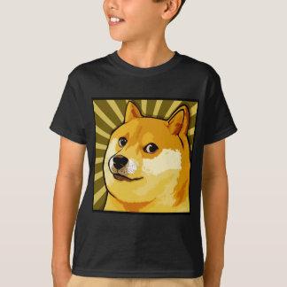T-shirt Autoportrait carré de doge de Meme de doge