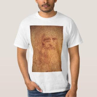 T-shirt Autoportrait d'art de Renaissance par Leonardo da
