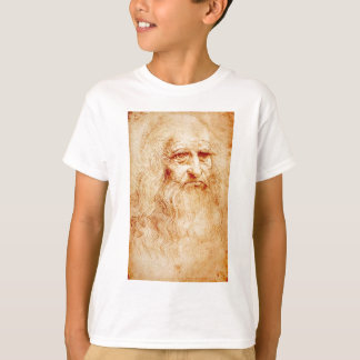 T-shirt Autoportrait de Leonardo da Vinci circa 1510-1515