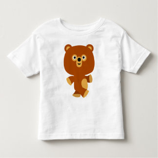 T-shirt autoritaire mignon d'enfants d'ours de