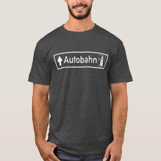 T-shirt Autoroute, poteau de signalisation, Allemagne
