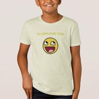T-Shirt Aux enfants épiques de chemise