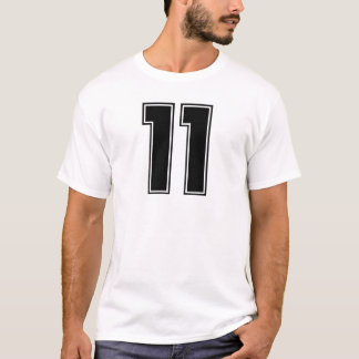 T-shirt Avant du numéro 11 et copie de postérieur