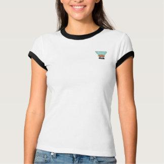 T-shirt Avant et dos capitaux des dames T de tarte de