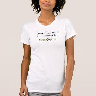 T-shirt Avant que vous demandiez la pièce en t de noeud