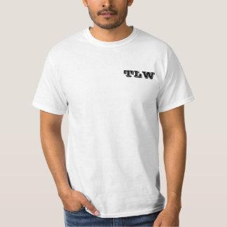 T-shirt avec de signature de logo le dos dessus