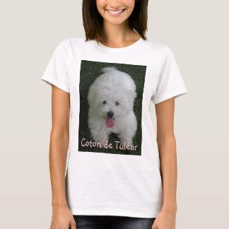 T-shirt avec la photo de chien, coton de Tulear