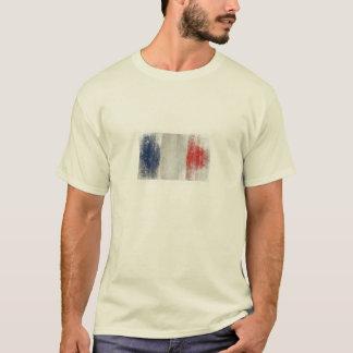 T-shirt avec le drapeau français vintage sale