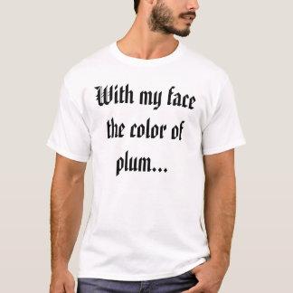 T-shirt Avec mon visage la couleur de la prune…