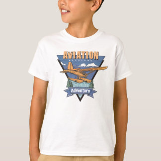 T-shirt Aventure d'hydravion d'aviation