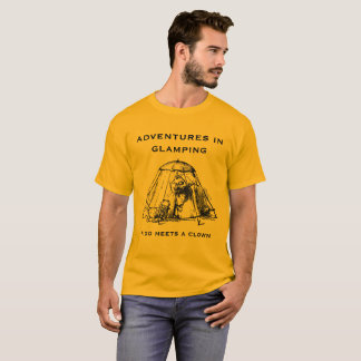 T-shirt Aventures dans Glamping.  Édition d'or