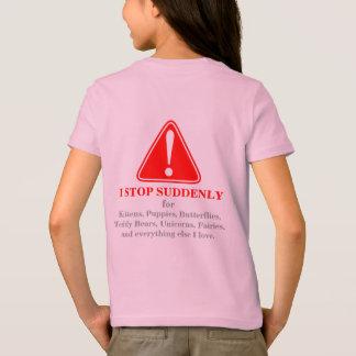 T-shirt AVERTISSEMENT ! Je m'arrête abruptement pour… (2)