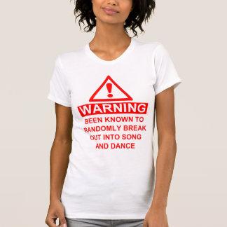 T-shirt Avertissement musical de fan
