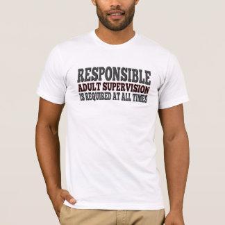 T-shirt Avertissement requis par surveillance adulte drôle