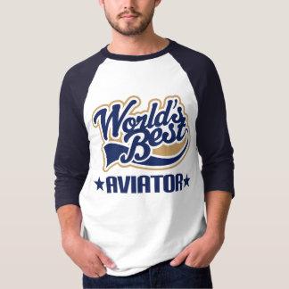 T-shirt Aviateur des mondes de cadeau le meilleur