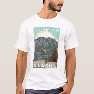 T-shirt Avion de Bush et pêche - Juneau, Alaska