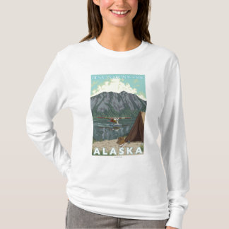 T-shirt Avion de Bush et pêche - parc national de Denali,