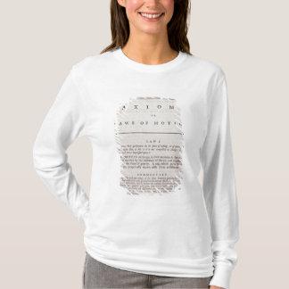 T-shirt Axiomes, ou lois de mouvement, du volume I